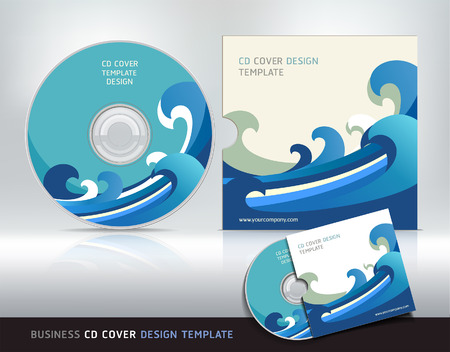 space program: Cd cover design template. Abstract background Vector illustration. Illustration