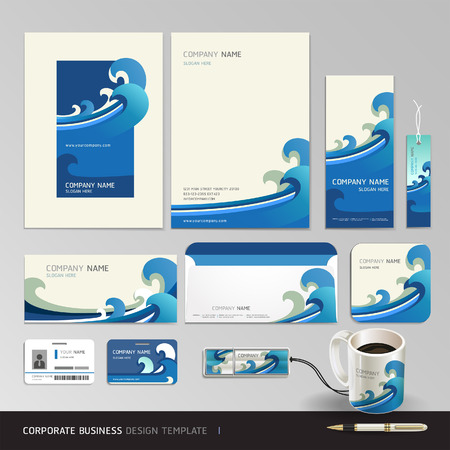 theme: Corporate identity business set design. Abstract background Vector illustration.