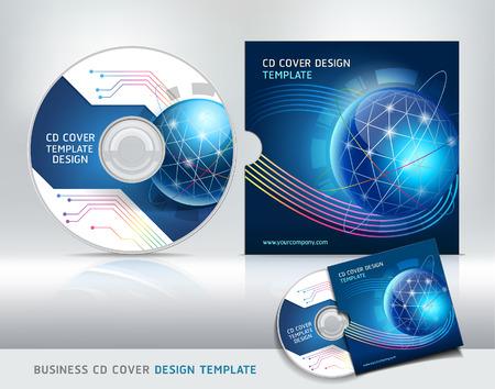 Cd cover design template Illustration