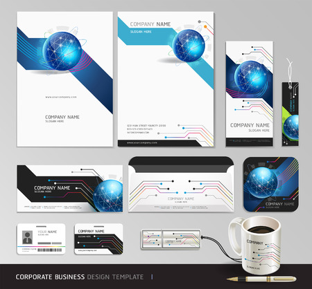 Corporate identity business set design