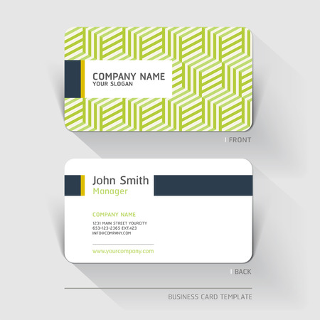 business banner: Business card abstract background. Vector illustration. Illustration