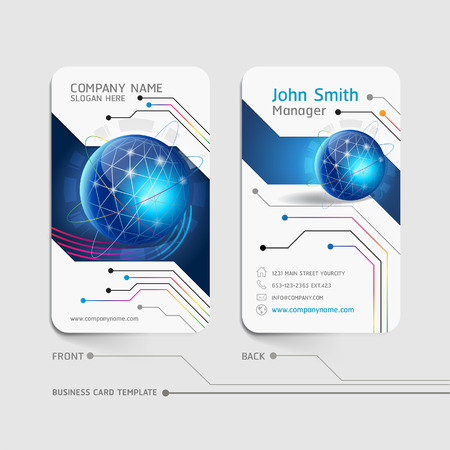 white card: Business card abstract background Illustration
