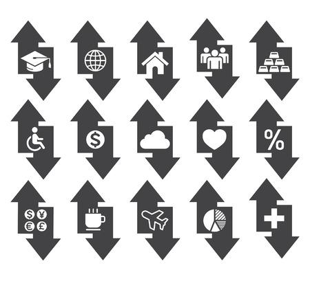 arrow icons: Arrow concept icons