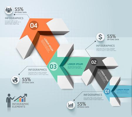 the template: Modern arrow infographics template