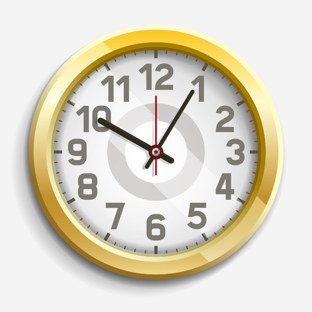 illustration: Clock icon illustration. Illustration