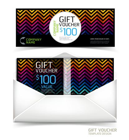 certificate design: Gift voucher design template.
