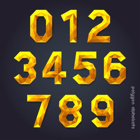shiny gold: Alphabet gold color polygon style.