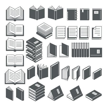 publishes: Book icons set. Illustration. Illustration