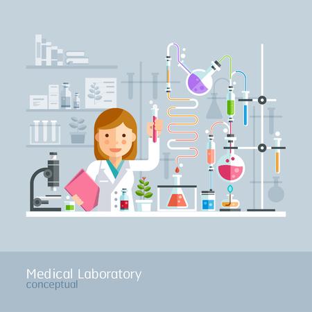 Laboratorio Médico conceptual