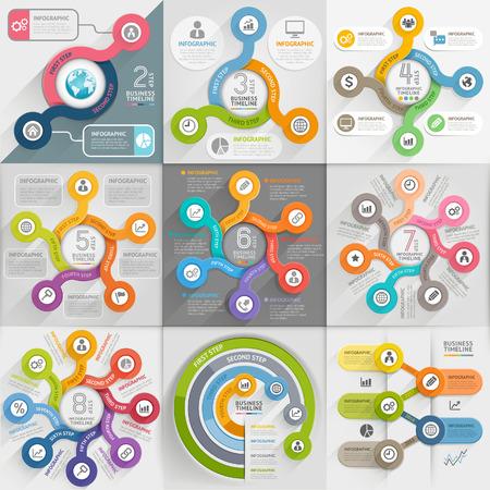 template: Infographics template set Illustration