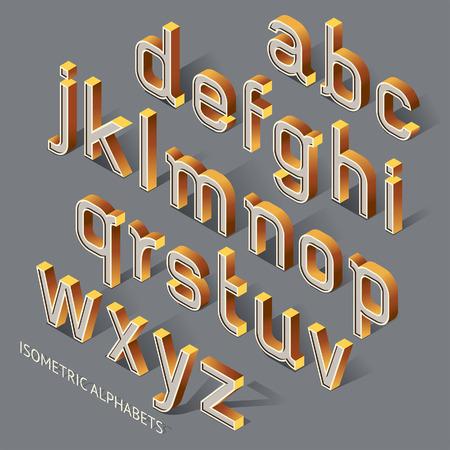 letter: Isometric Alphabets. Illustration