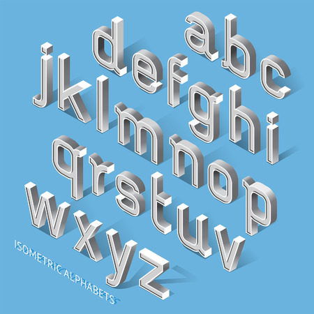 modern background: Isometric Alphabets. Illustration