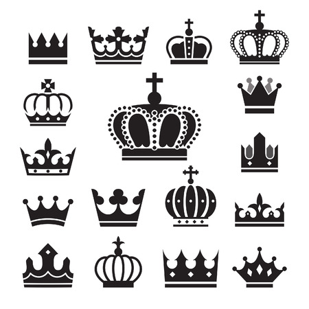 icons: Crown icons set. Illustration