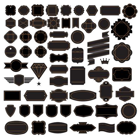 Retro Vintage-Rahmen Etiketten-Design-Elemente. Vektorgrafik