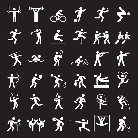 Set van sport iconen. illustratie. Stock Illustratie