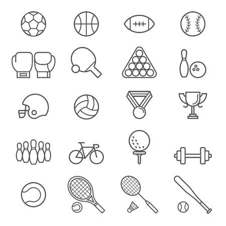 balones deportivos: Conjunto de iconos del deporte. Ilustraciones. Vectores
