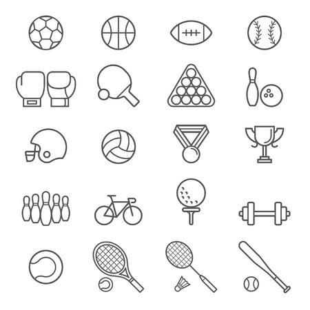 sports balls: Set of sport icons. Illustrations. Illustration