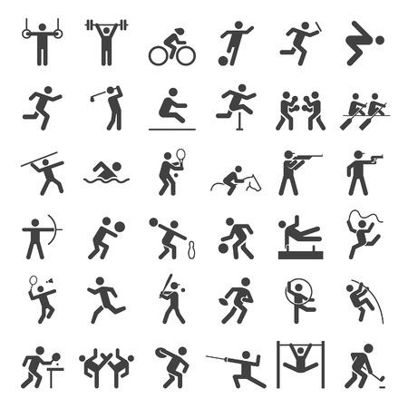 pictogramme: Définir des icônes du sport. illustration.