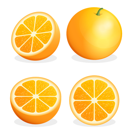 food: Orange fruit illustration.