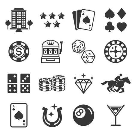 sign: Casino icons. Vector illustrations. Illustration