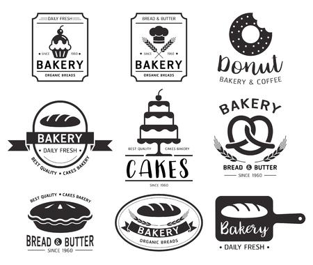 bakery products: Bakery shop logo.Vector illustration.