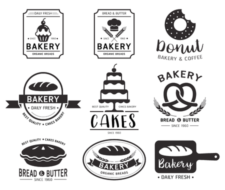 Bakery shop logo.Vector illustration.