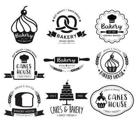 ベーカリー ショップのロゴ。ベクトルの図。