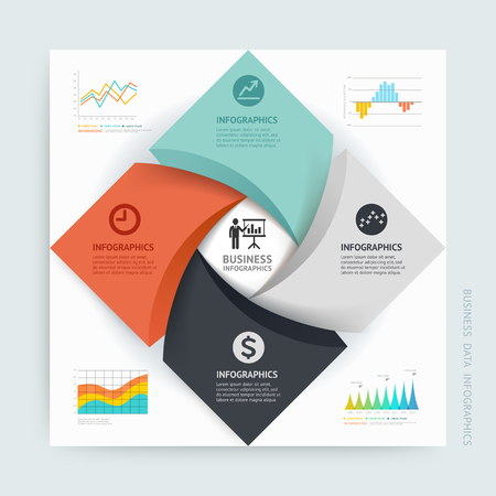 technology: Business Infographics design template. Vector illustration. Can be used for workflow layout, diagram, number options, start-up options, web design