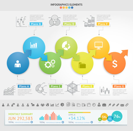 numbers abstract: Business Infographics design template. Vector illustration. Can be used for workflow layout, diagram, number options, start-up options, web designs.