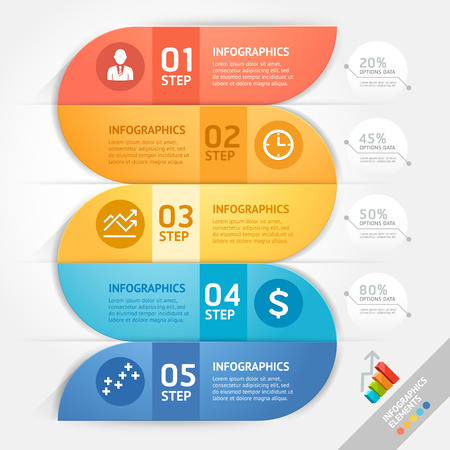 info: Business infographics design template. Vector illustration. Can be used for workflow layout, diagram, number options, start-up options, web design.