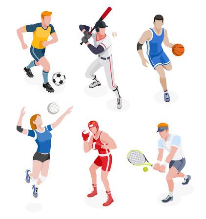 Grupa sportowców. Ilustracje wektorowe. Ilustracje wektorowe