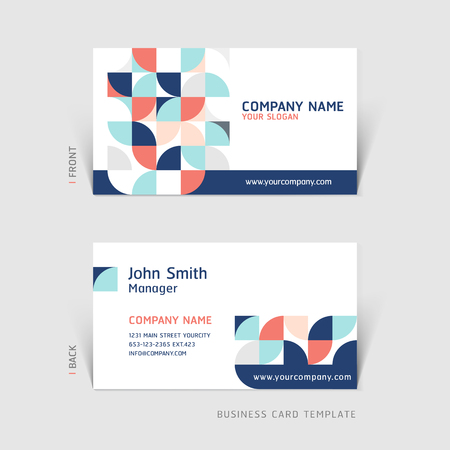 Business card abstract background. Vector illustration. Çizim