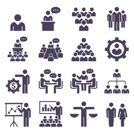 groupe d & # 39 ; icônes vectorielles ensemble des habitants vectorielles