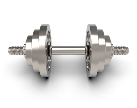 3d dumbbell isolated on white background