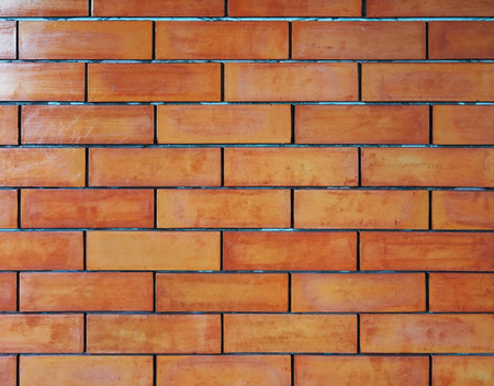 Red brick wall pattern background.