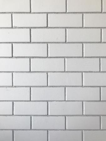 White brick wall pattern background. Stock Photo