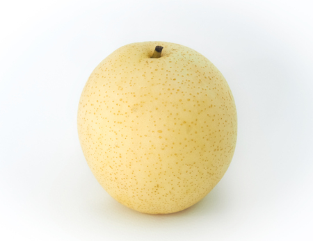 Chinese pear isolated on white background.