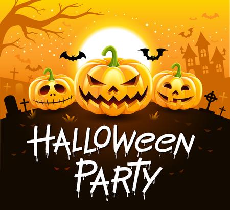Illustration vectorielle de fête d'Halloween.