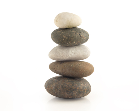 Group of stone isolated on white background. Stock Photo