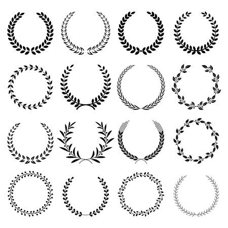 Wreath frame vector illustrations. Illustration