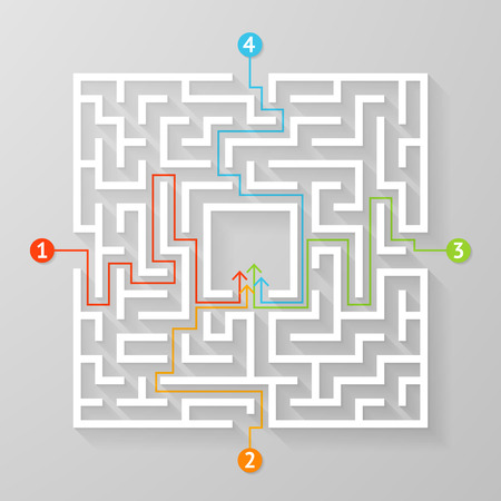 Labyrinth maze symbol shape vector illustration.