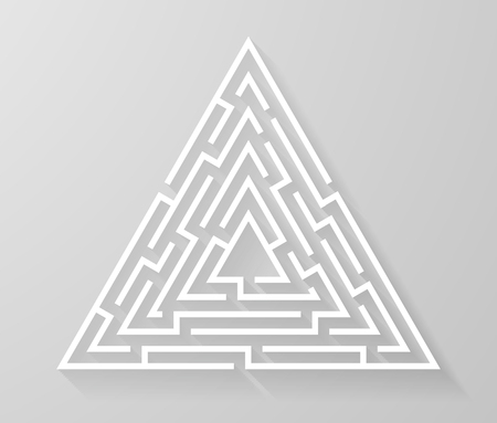 Labyrinth Labyrinth Symbol Form Vektor-Illustration.
