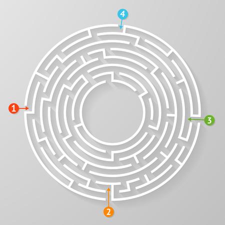Labirinto labirinto simbolo forma illustrazione vettoriale.