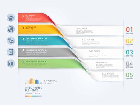 Szablon elementów infografiki biznesowych. Ilustracje wektorowe. Może być używany do układu przepływu pracy, banera, diagramu, opcji liczbowych, projektowania stron internetowych, szablonu osi czasu.