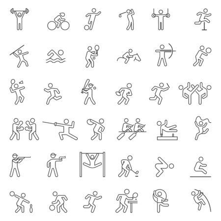 Set of sport line icons. Vector illustration. Ilustração