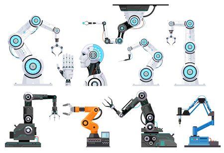 Robotic engineering vector illustrations.