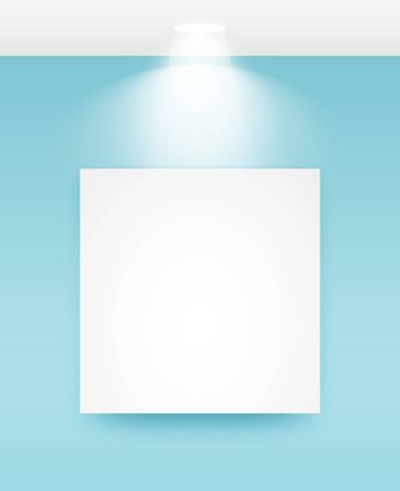 Picture frame with light vector illustrations. 矢量图像