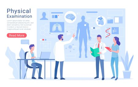 Physical system examination and treatment vector illustration. 矢量图像