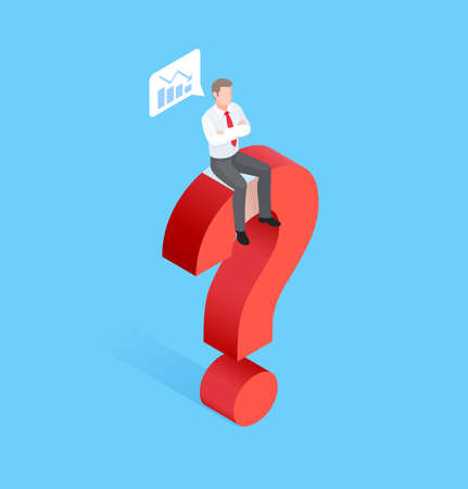 Business time concepts. Businessman running with clock. Isometric vector illustration. 矢量图像