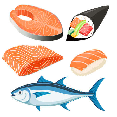 Salmon Fillet illustration.